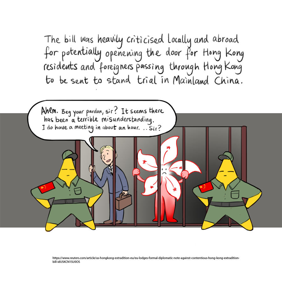 Hong Kong extradition bill comic 2