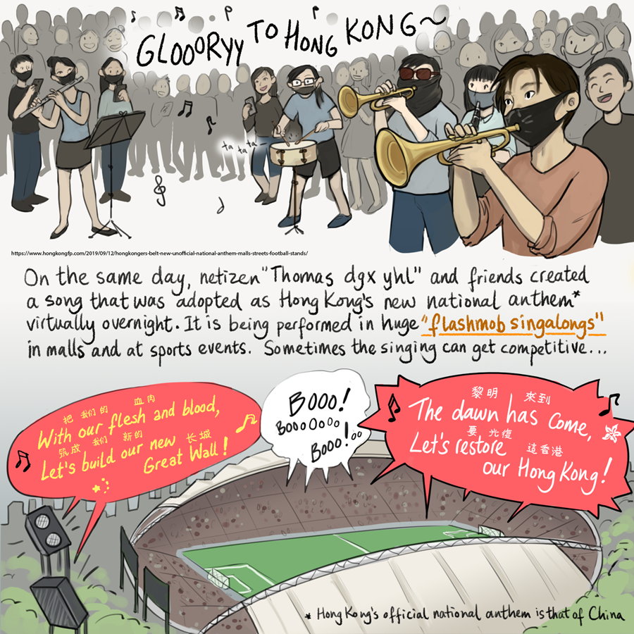 Hong Kong symbolic protest comic 3