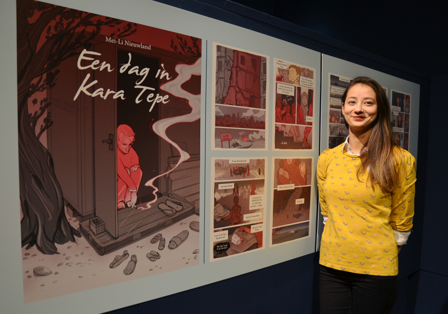 One day in Kara Tepe exposition Groningen stripmuseum