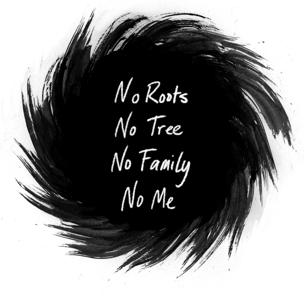 No Roots illustration series title